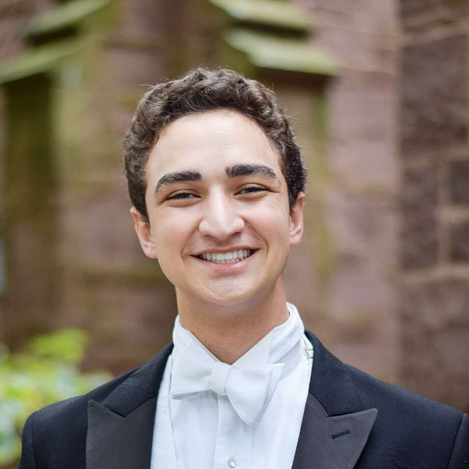Westport native Nick Massoud and his a cappella group, the Yale Spizzwinks, will perform at Assumption Church Saturday night. Photo: Contributed Photo / Westport News