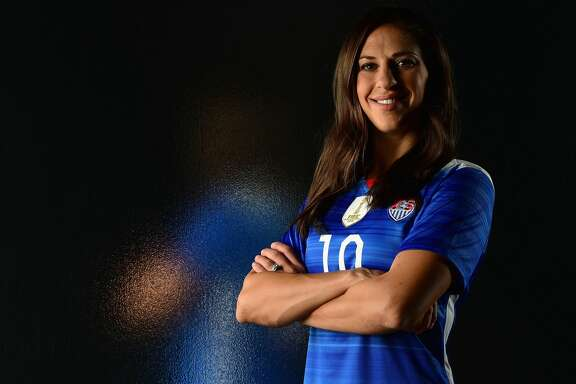 LOS ANGELES, CA - NOVEMBER 17:  Soccer player Carli Lloyd poses for a portrait at the USOC Rio Olympics Shoot at Quixote Studios on November 17, 2015 in Los Angeles, California.  (Photo by Harry How/Getty Images)