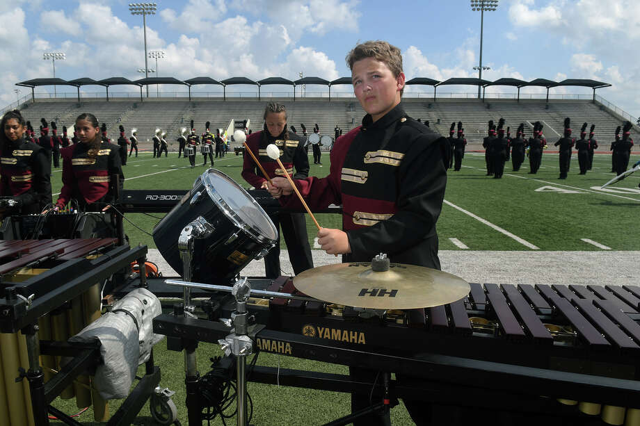 Percussionist Cameron Myrick and the Summer Creek High School Marching Band performs at the annual Humble ISD Marching Festival at Turner Stadium on Oct. 14, 2017. (Photo by Jerry Baker/Freelance) Photo: Jerry Baker, Freelance / Freelance