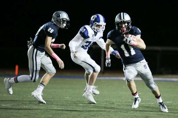 Staples' Kevin Rabacs has 371 all-purpose yards and two touchdowns this season and will look to continue that success when the Wreckers take on Norwalk this week.