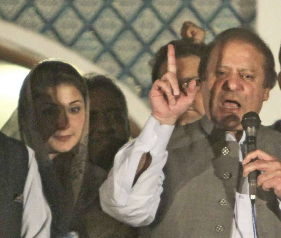 Ex-premier Nawaz Sharif and daughter, Maryam Nawaz, were indicted on Panama Papers leaks. Photo: K.M. Chaudary / K.M. Chaudary / Associated Press 2013 / AP