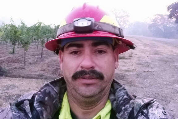 Garrett Paiz, 38, died when the private firefighting water truck he was driving careened off the steep Oakville Grade road in Napa County near Highway 29 around 7 a.m. on Monday October 16, 2017. Officials said it wasn't clear what caused the accident, but fatigue from long hours of working the fire may have been a factor. A selfie taken on Sunday, October 15, 2017.