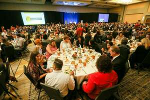 People are seated before the start of the Express-News' Top Workplace luncheon at the Grand Hyatt on Thursday, Oct. 19, 2017.