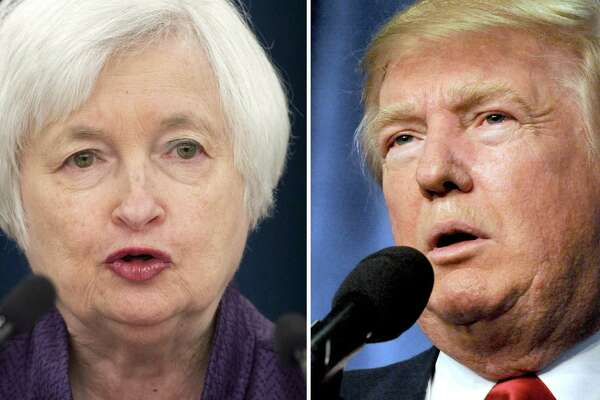 President Donald Trump met with Federal Reserve Board Chair Janet Yellen on Thursday as he nears completing his search for the next leader of the U.S. central bank when her term ends in February.
