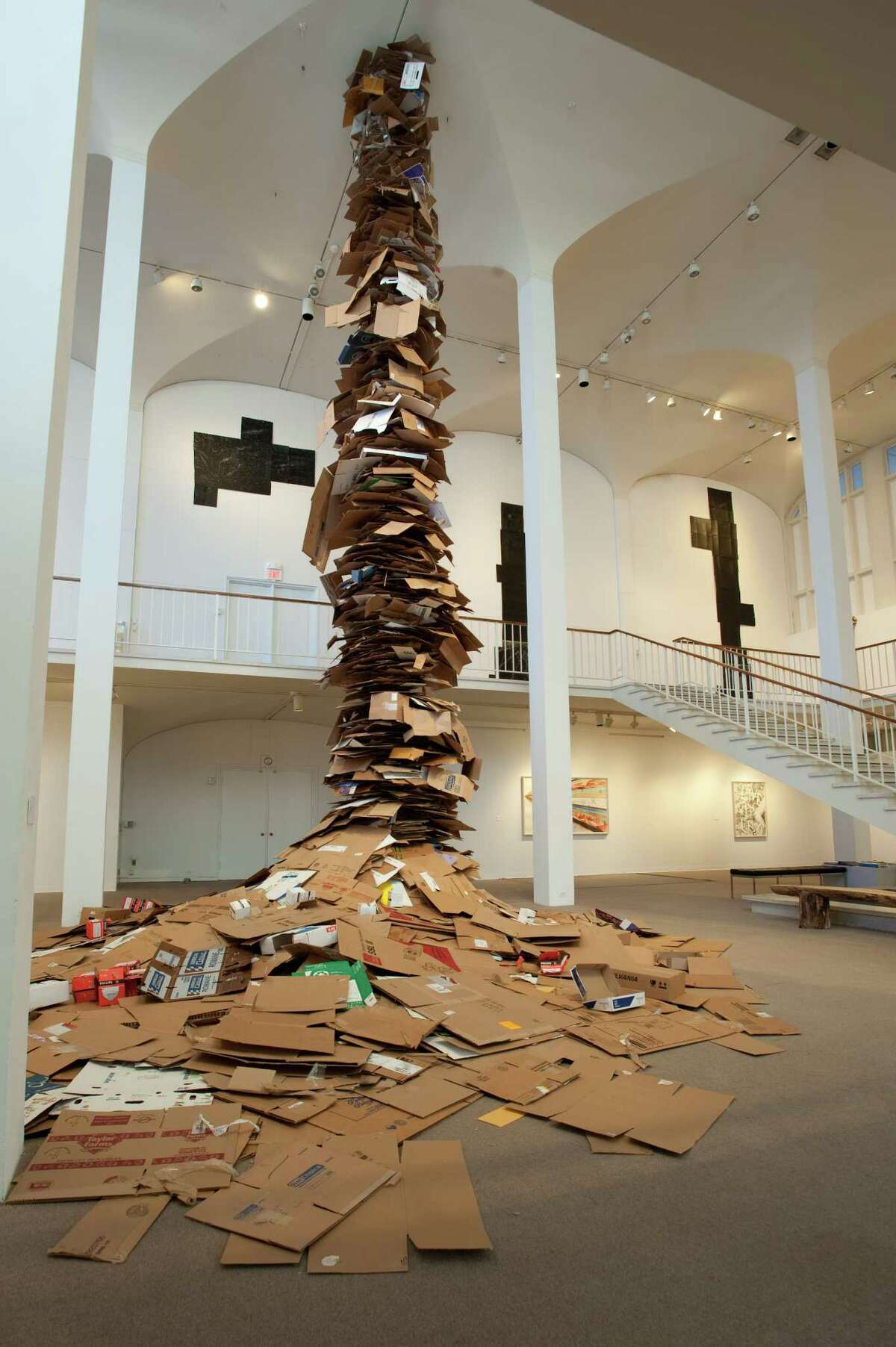 """Jason Middlebrook's """"Live with Less,"""" his 2009 installation at the UAM (image courtesy University at Albany / University Art Museum)"""