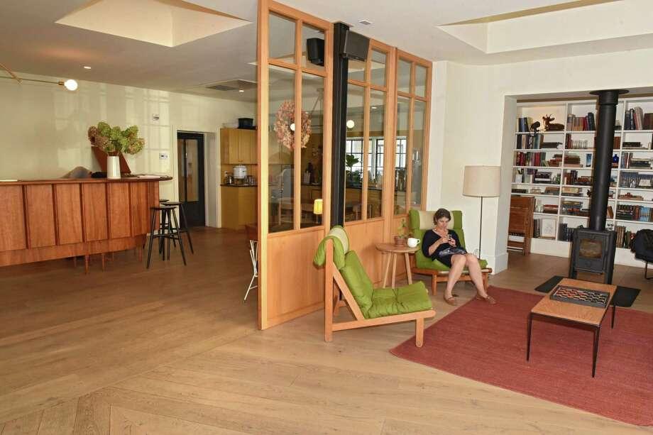 Sitting area in lobby of Rivertown Lodge on Thursday, Oct. 5, 2017 in Hudson, N.Y. (Lori Van Buren / Times Union) Photo: Lori Van Buren / 20041758A