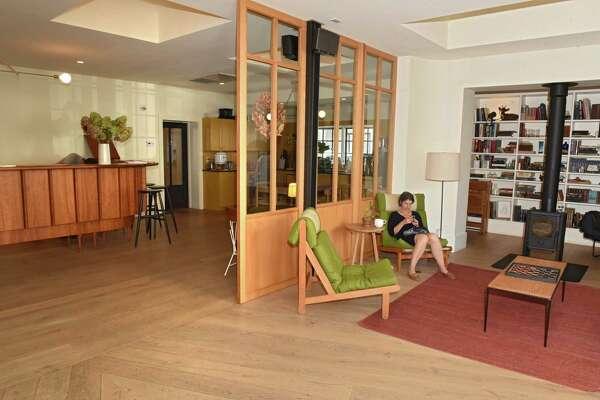Sitting area in lobby of Rivertown Lodge on Thursday, Oct. 5, 2017 in Hudson, N.Y. (Lori Van Buren / Times Union)