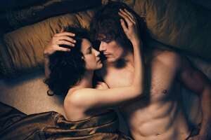 """At long last, after 20 years of living apart, time traveling Claire and Jamie, her Scottish husband from the 18th Century, reunite in Starz's emotional and very sexy Sunday episode of """"Outlander."""""""