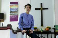 Jacob Eun, 26, is the new pastor of the Gaylordsville United Methodist Church in New Milford, Conn. Photo Tuesday, Oct. 17, 2017.