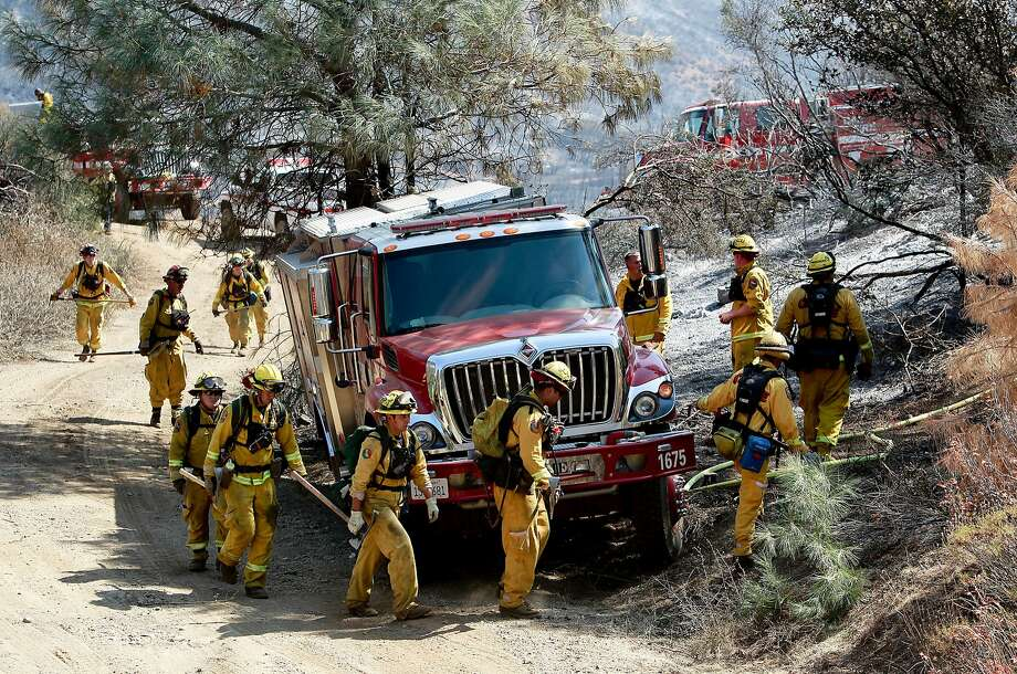 A Cal Fire crew searches for hot spots in Mt. Diablo State Park near Clayton on Sept. 10, 2013, while fighting the Morgan Fire. Photo: Michael Macor, The Chronicle