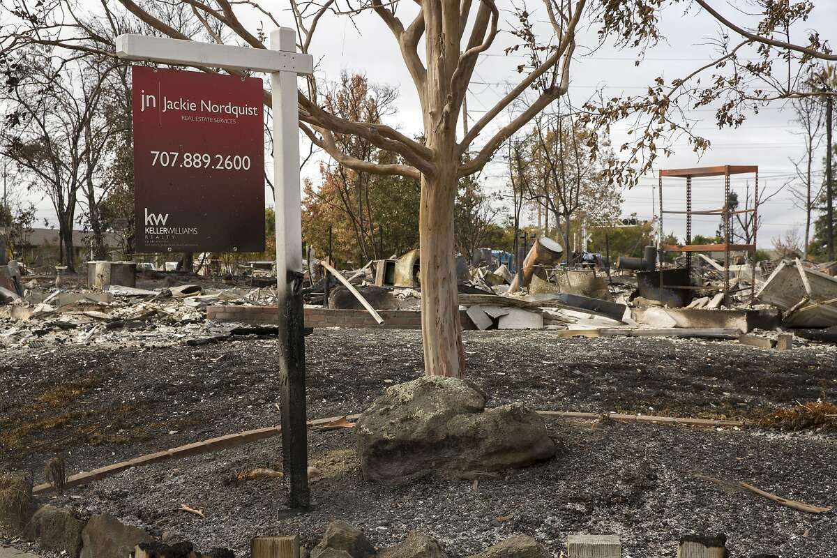 The charred remains of the neighborhood off of Coffey Lane from the Sonoma County fires on Thursday, Oct. 19, 2017, in Santa Rosa.