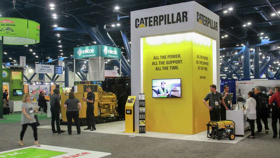 Caterpillar displays rental generators at the International Facility Management Association convention. Photo: Gary Fountain, For The Chronicle / Copyright 2017 Gary Fountain