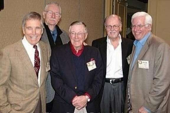 L to R: Carter B. Smith, Jim Jones, Frank Dill, Mike Cleary, Ron Fell. 2007, by Robert Mohr Photography.