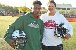 Khalil Eason, left, and Izayah Valentine are two freshmen who have made their way into the starting lineup of the Norwalk High School football team.