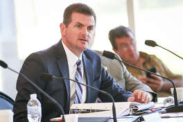 State Sen. Brandon Creighton speaks during the Texas Senate Committee on Agriculture, Water, and Rural Affairs interim hearing on Monday, Oct. 16, 2017, at the East Montgomery County Improvement District in New Caney.
