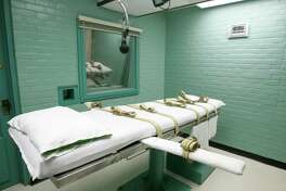 The gurney in Huntsville is where Texas' condemned are strapped down to receive lethal doses of drugs.