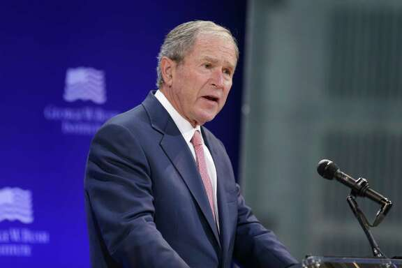 Former U.S. President George W. Bush denounced bigotry and warned of the rise of 'nativism'  at a forum Thursday sponsored by the George W. Bush Institute in New York.