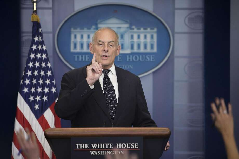 White House Chief of Staff General John Kelly delivers remarks during the daily news briefing at the White House in Washington, Oct. 19, 2017. Photo: TOM BRENNER, NYT