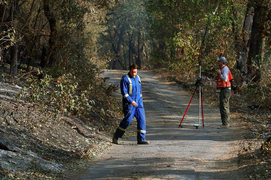 Investigators search for the cause of the Nuns fire along Nuns Canyon rd. in Glen Ellen, Ca. as seen on Wednesday October 18, 2017. Photo: Michael Macor, The Chronicle
