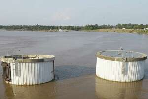 The San Jacinto River waste pits area was surrounded by water on Sept. 1 as Hurricane Harvey struck. The Environmental Protection Agency on Thursday said it wants to stabilize the San Jacinto riverbed to prevent future flooding.