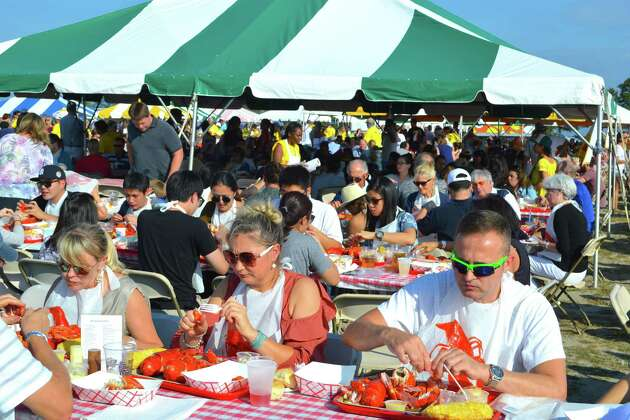 Hundreds of people from all over the area were at the Rotary Club of Westport's  6th annual LobsterFest at Compo Beach, Saturday, Sept. 16, 2017, in Westport, Conn.