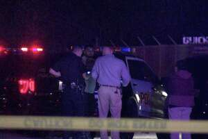 Police said the driver had just gotten out of his truck about 3 a.m. and was opening the gate to his business's property in the 3100 block of Growdon Road, when the suspect shot him in the chest.