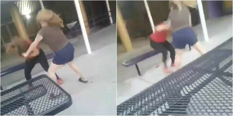 A video allegedly shows a female student at Corpus Christi's Miller High School getting beaten by a woman has gone viral. Photo: Facebook/Julie Pinon