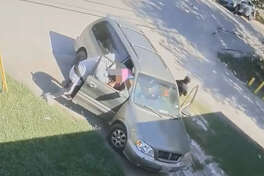 A group of carjackers ripped a woman and her infant niece from their car, shooting up the neighborhood nearby in a violent robbery Oct. 16, 2017 in south Houston.