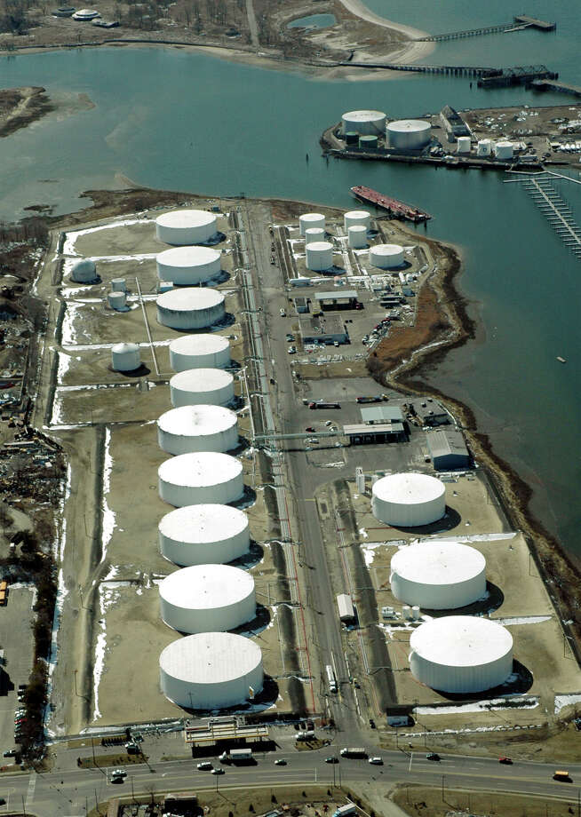 Morgan Kaolina AEROPIX 3/08/06  Motiva Enterprises, jointly owned by Shell Oil and Saudi Armaco, owns and operates a portion of this tank farm on Eagles Nest Road in Bridgeport, while the remainder of the facility is owned and operated by Consumers Petroleum. Photo: Morgan Kaolian AEROPIX / Morgan Kaolian AEROPIX