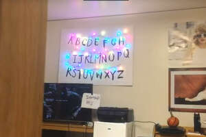 """A 20-year-old college student in Massachusetts has created his own """"Stranger Things"""" Ouija wall that allows anyone to submit messages to it online."""