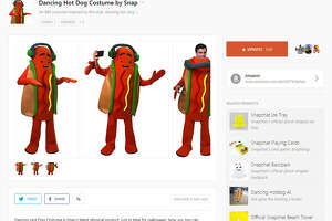 Snapchat is selling a dancing hot dog costume for $80.  Image source:  ProductHunt