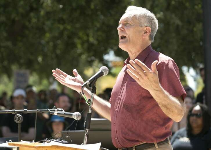 U.S. Rep. Lloyd Doggett, D-Austin, speaks at the Rally Against White Supremacy at City Hall on Saturday August 19, 2017. Doggett later made a claim about a Republican tax-cut plan that drew the Truth-O-Meter (JAY JANNER, Austin American-Statesman).