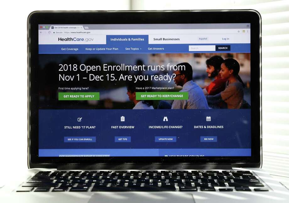 The Healthcare.gov website is seen on a computer screen on Wednesday in Washington. The annual sign-up season for subsidized private insurance plans under the Affordable Care Act starts Nov. 1, but it may not make much of a difference. President Donald Trump has stopped federal payments that reimburse insurers for lower copays and deductibles that the Obama-era law requires them to provide to people with modest incomes. Photo: Alex Brandon /Associated Press / Copyright 2017 The Associated Press. All rights reserved.