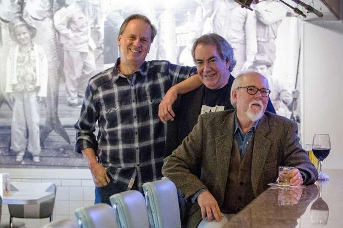 Miles Arceneaux is the nom de plume for the trio of Texas thriller writers (from left): Brent Douglass, James R. Dennis and John T. Davis.
