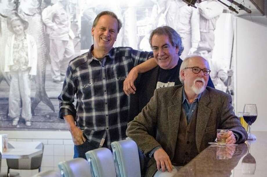 Miles Arceneaux is the nom de plume for the trio of Texas thriller writers (from left): Brent Douglass, James R. Dennis and John T. Davis. Photo: Courtesy Photo