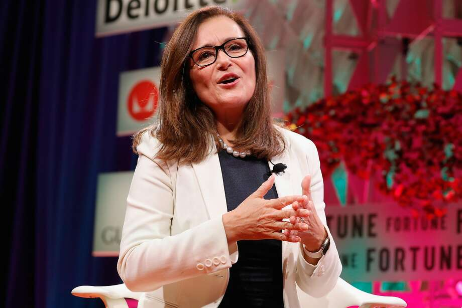 PG&E CEO Geisha Williams speaks onstage at the Fortune Most Powerful Women Summit in October. The utility's first female CEO, Williams faces an unprecedented challenge in the wake of the fires that raged across Wine Country. Photo: Paul Morigi, Getty Images For Fortune