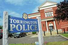 The Torrington Police Department, at the intersection of East Elm and Main streets.