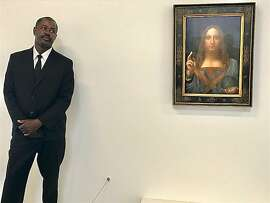 Stanley Lewis stands guard over the da Vinci
