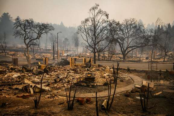 The scene in Santa Rosa; where some will start over
