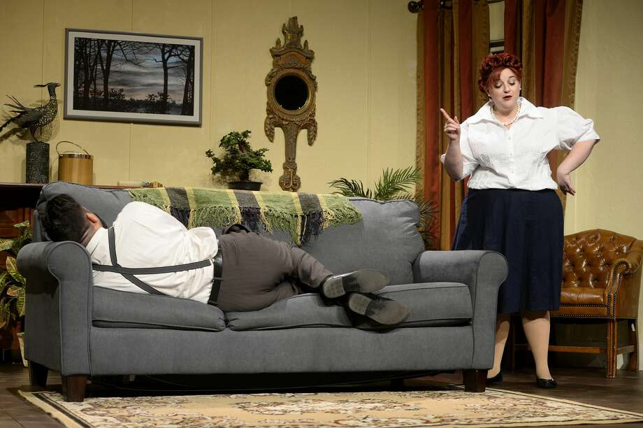 """Cast members perform during a dress rehearsal for Beaumont Community Players' production of """"Baby with the Bathwater"""" on Thursday night. Photo taken Thursday 10/19/17 Ryan Pelham/The Enterprise Photo: Ryan Pelham/The Enterprise"""