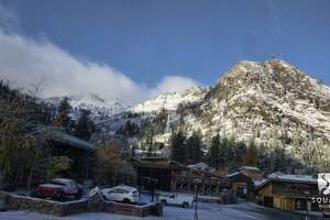 Tahoe recorded its first measurable snowfall of the season in a storm that hit Oct. 19 and 20, 2017.