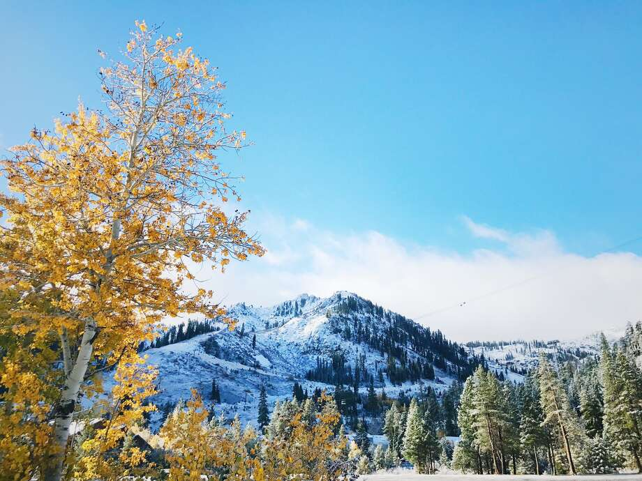 Tahoe recorded its first measurable snowfall of the season in a storm that hit Oct. 19 and 20, 2017. Photo: Squaw Valley