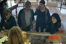 Surveillance footage from Campus Jewelers shows four suspects who allegedly stole approximately $17,000-worth of jewelry on Wednesday, Oct. 18