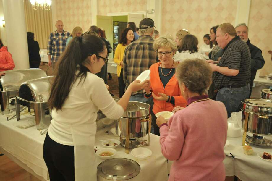 The annual Empty Bowls fundraiser was held Thursday evening in the Elks Lodge on Litchfield Street, as local residents gathered together in fellowship to support the Community Kitchen of Torrington. Photo: Ben Lambert / Hearst Connecticut Media