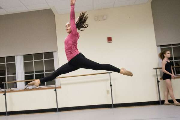 Kiersten Yusi practices dance at the Western Greenwich Civic Center in Greenwich, Conn., Oct. 10, 2017. Yusi, a high school senior, has choreographed dance shows and is preparing to apply to college as a dance major.