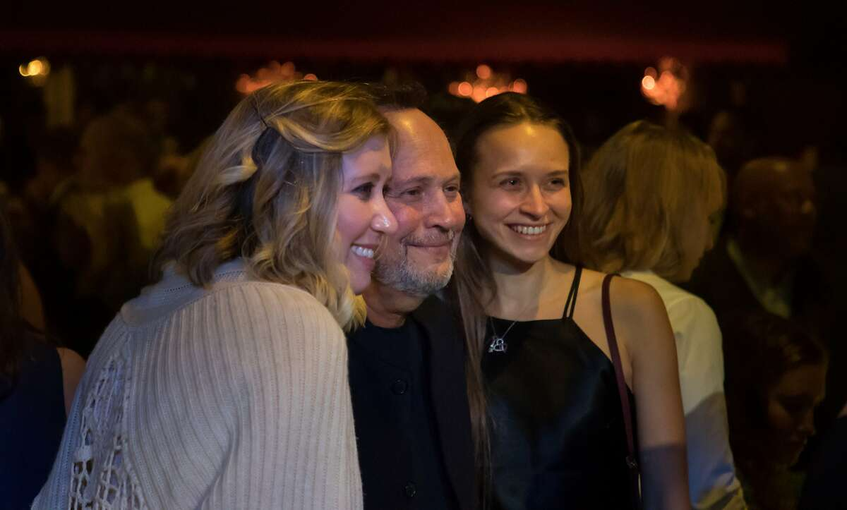 Billy Crystal poses with Korie Rice and Christine Lake at a fundraiser for Bring Change to Mind at Bimbo's 365 Club on Friday, Oct. 20, 2017 in San Francisco, Calif.