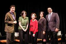 (L to R)  Next for Autism panelists New Yorker editor David Remnick, film producer Alexandra Shiva, author Liane Kupferberg Carter, board member Christine Lai and Vice President of Program Development Jerry Philip.