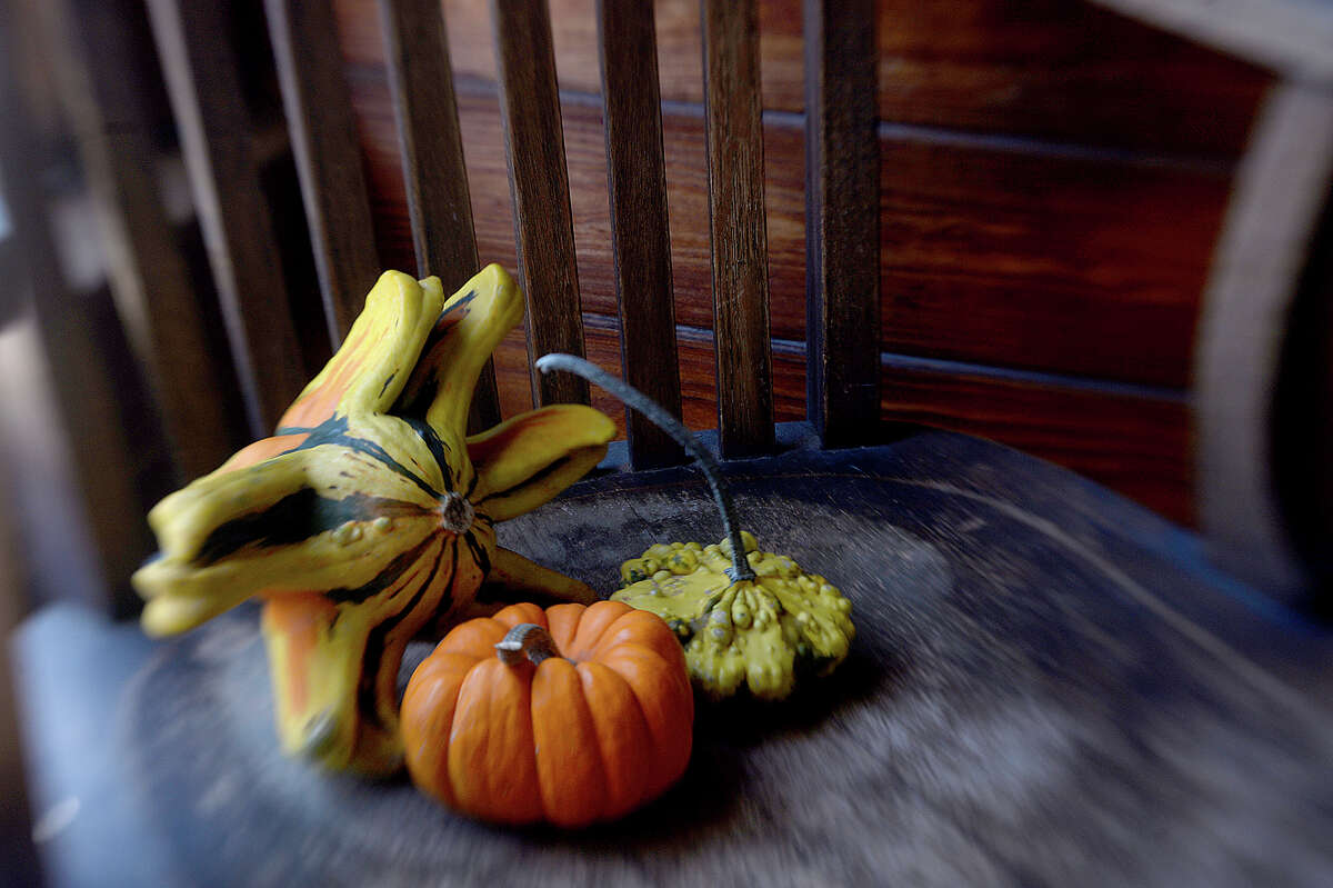 Autumn is the season for color, and decorative gourds step up to the plate with a variety of shapes, sizes, and unique patterns. Photo taken Tuesday, October 17, 2017 Kim Brent/The Enterprise