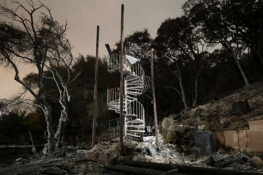 Debris from Rick Dunham's garage and workshop in Glen Ellen. Photo: Paul Kuroda, Special To The Chronicle