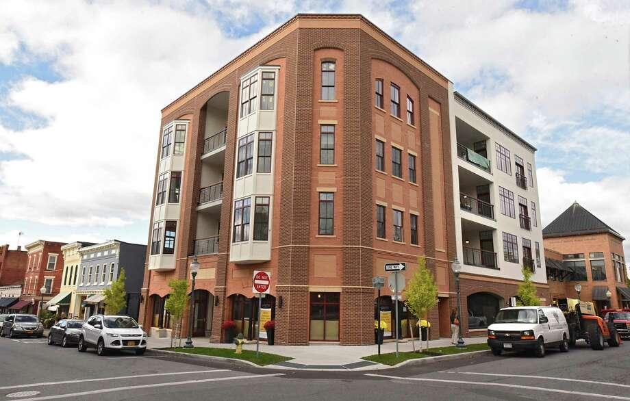 Exterior of condominium building at 55 Phila St. on Monday, Oct 16, 2017 in Saratoga Springs, N.Y. (Lori Van Buren / Times Union) Photo: Lori Van Buren / 20041852A